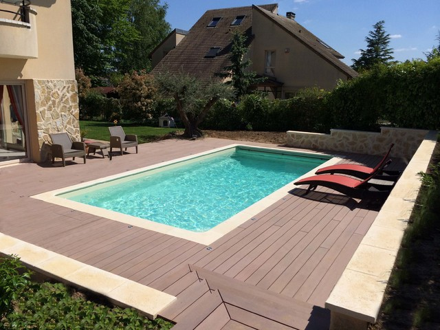 Construction d 39 une piscine caron feucherolles 78 for Construction piscine caron