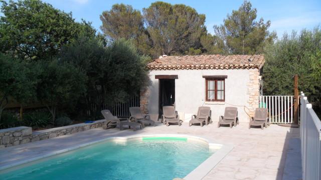 dallage et mur de cloture autour de la piscine ainsi que construction du pool ho. Black Bedroom Furniture Sets. Home Design Ideas