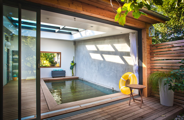 extension piscine interieure - Contemporary - Swimming Pool & Hot ...