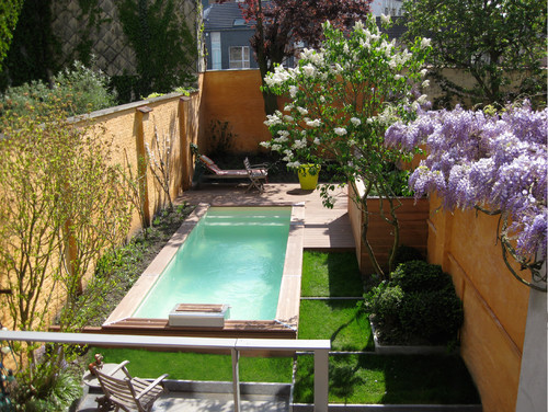 Installer une mini piscine - Plan amenagement jardin rectangulaire ...