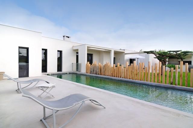 Photographie extérieure moderne piscine
