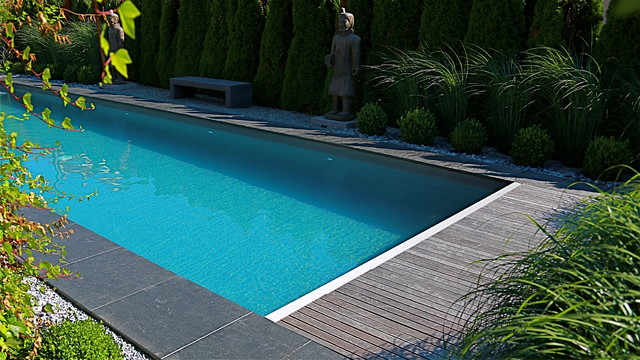 Piscine contemporaine for Piscine contemporaine