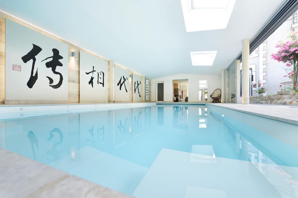 Piscine Interieure 4 X 10 Asian Pool Nantes By Caron Piscines