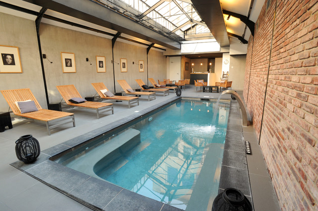 Piscine Interieure Modern Swimming Pool Hot Tub By