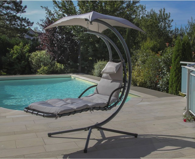 relax 1 chaise longue suspendue avec ombrelle contemporain piscine autres p rim tres par. Black Bedroom Furniture Sets. Home Design Ideas