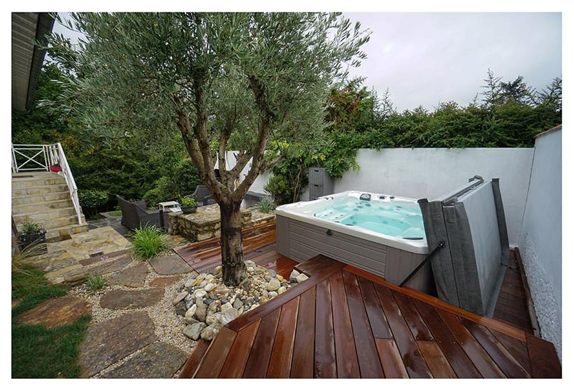 Spa 6 places modèle Geneva, terrasse IPE - Mediterranean ...