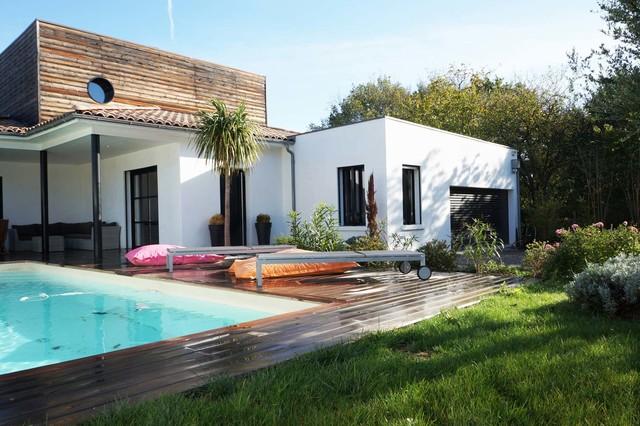 villa contemporaine toulouse contemporary pool
