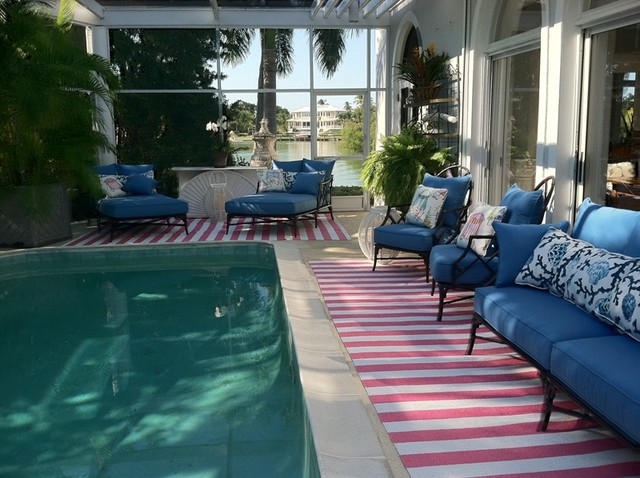 Vinyl Runners Naples Florida Pool Area
