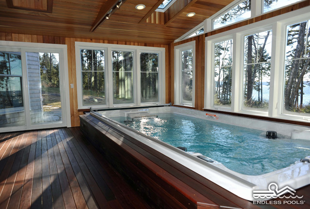 15\' Endless Pool® Swim Spa - Traditional - Pool - Portland Maine ...