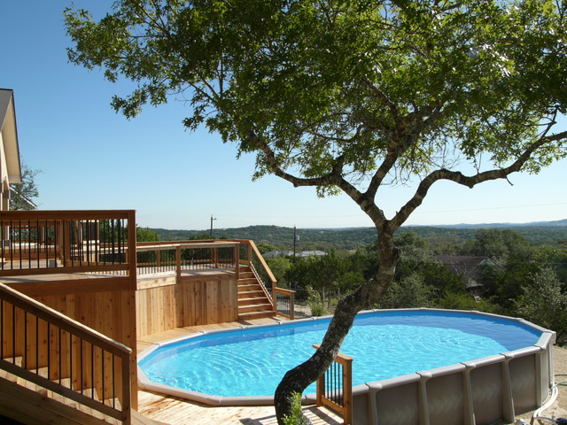 15x30 Oval Pool Contemporary Pool Austin By The