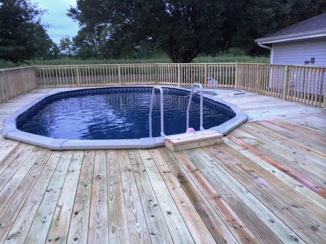 16x26 dynasty above ground pool traditional pool - Above ground swimming pools houston ...