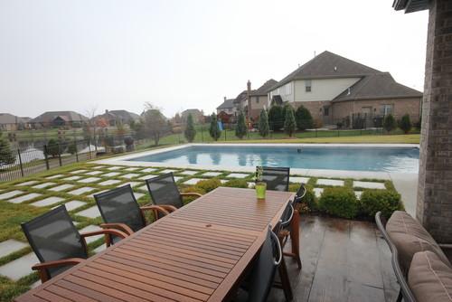 backyard renovation by Latham Pool Dealer Aqua Pools