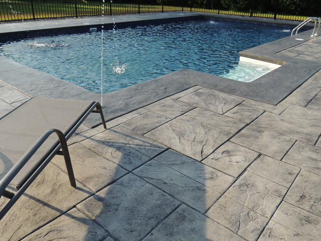 18x36 swimming pool w deck jets for Pool jets design