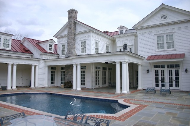 19th C. Classical Revival - Estate house traditional-pool