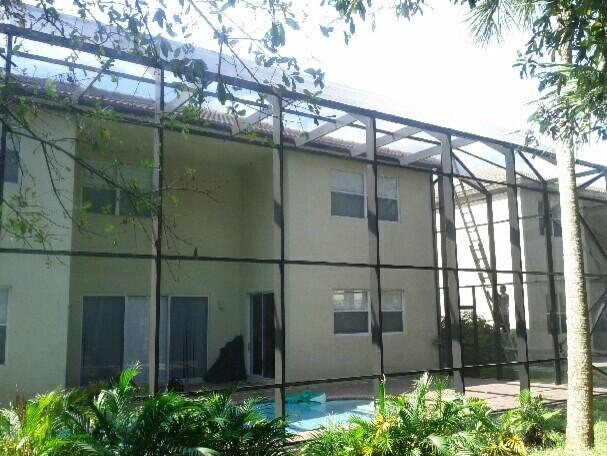2 Story Screen Pool Enclosure West Palm Beach Florida