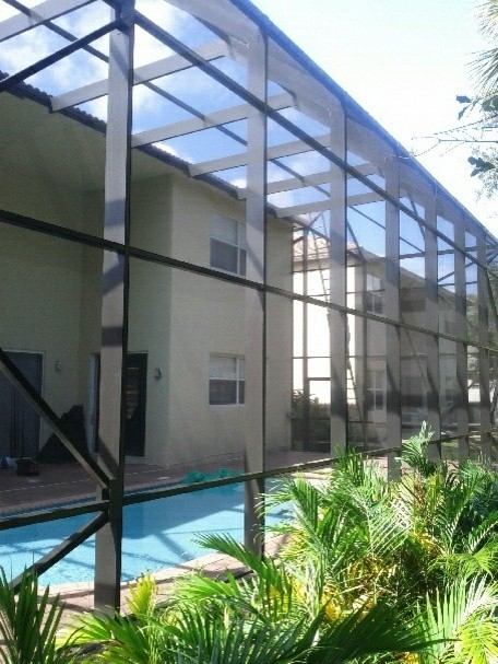 2 Story Screen Pool Enclosure West Palm Beach Florida
