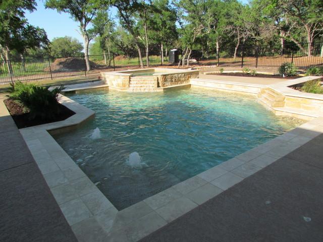 2012 Parade of Homes Entry - Salado mediterranean-pool