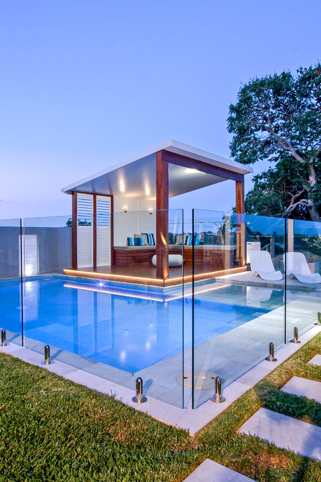 Example of a trendy pool design in Brisbane