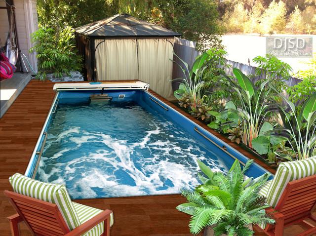 2d endless lappool tiny ojai backyard afterimage for Tiny pool