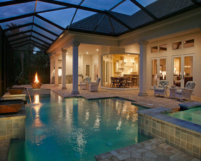 632 riviera drive naples fla mediterranean pool for Pool design tampa