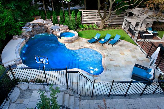 A Backyard Pool Oasis - Traditional - Pool - Toronto - by ...