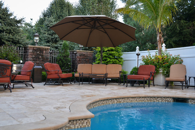 A caribbean pool in new jersey tropical pool new for Pool design new jersey