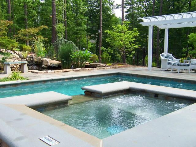 A carolina hillside pool traditional pool dc metro for Pool design hillside