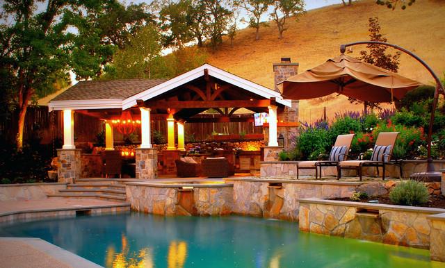 a formal poolside pavilion danville ca traditional pool san