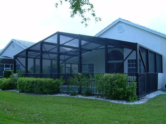 A-Frame Style Pool Screen Enclosure - Tropical - Pool ...