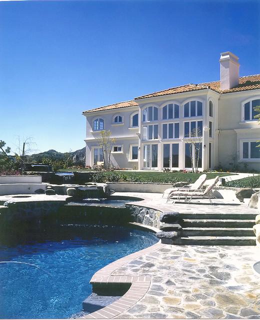 A Los Angeles Custom Home by Mega Builders mediterranean-exterior