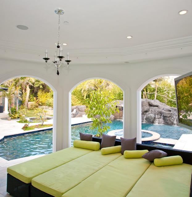 A Mediterranean Custom Home With a Modern Twist, by Mega Builders mediterranean-pool