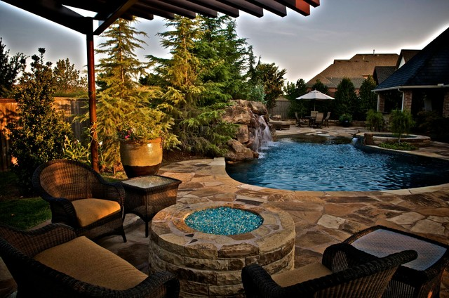 A small oklahoma backyard receives a private pool and oasis mediterranean pool other metro - How to create a small outdoor oasis ...
