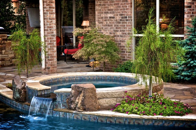 A small oklahoma backyard receives a private pool and for Pool design okc