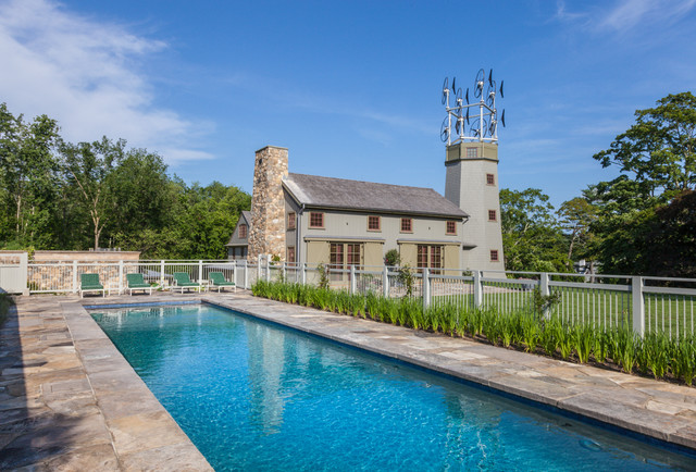 A sustainable homestead farmhouse pool new york by for Farmhouse with swimming pool