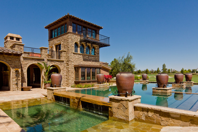 A Tuscan Villa 1 Mediterranean Pool Orange County By South Coast Architects Inc