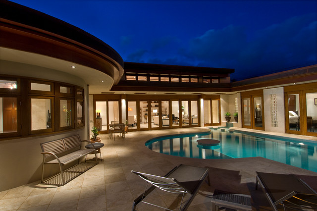 Abe Residence Contemporary Pool Hawaii By Lapis