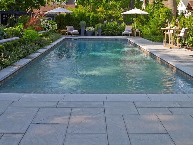 Aberdeen Slabs Transitional Pool New York By Techo