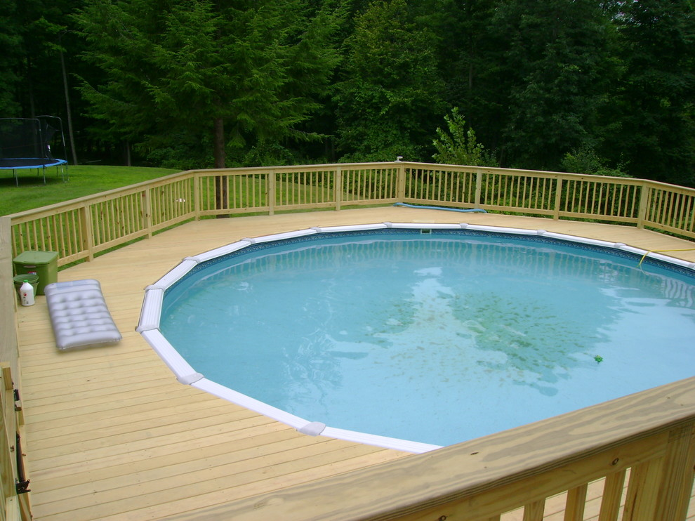 Above Ground Pool Deck Traditional Pool Boston By Classic Homes By Brian K Smith Inc