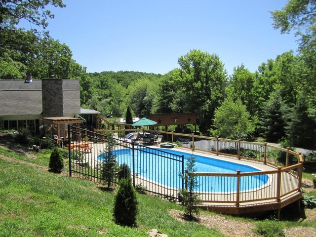 Above Ground Pool Designs - Contemporary - Pool - Baltimore ...