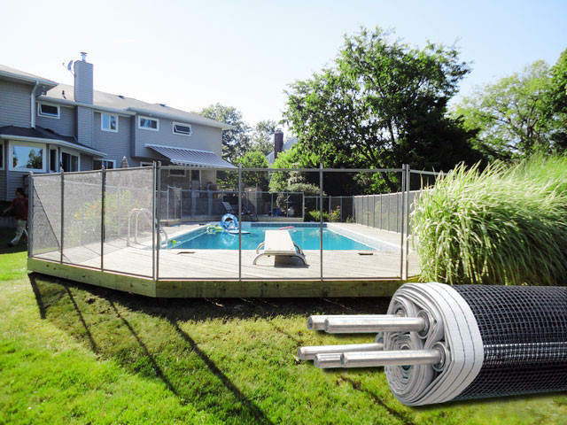 Above Ground Pool Fence modern pool