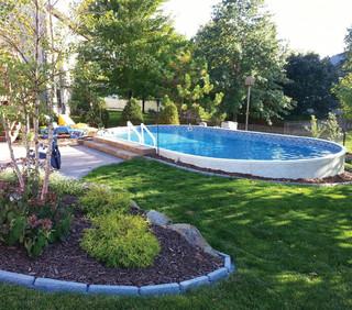 piscine hors sol ronde Saint-Fuscien (Somme)
