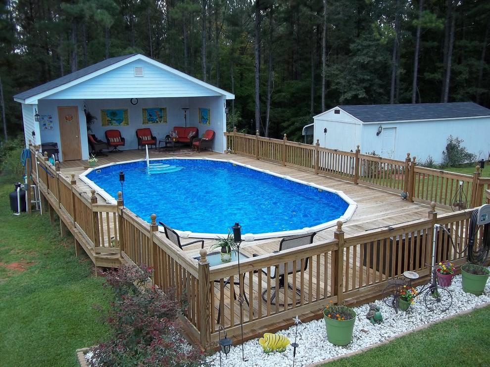 Inspiration for a timeless pool remodel in Atlanta