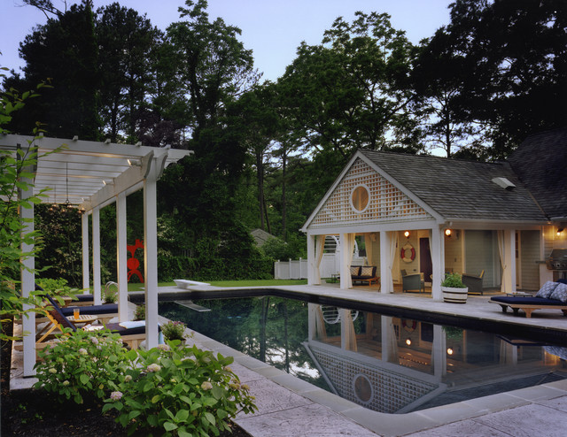 Addition and renovation to a coastal home beach style for Pool house additions