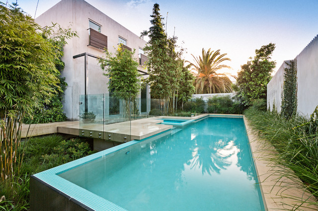Albert Park Infinity Lap Pool And Spa Contemporary Pool