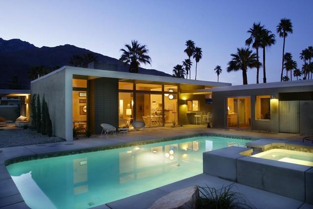 Alexander twin palms bauhaus look pools los angeles for Bauhaus pool