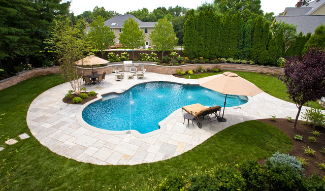 Allendale new jersey traditional pool new york by for Pool landscaping pictures