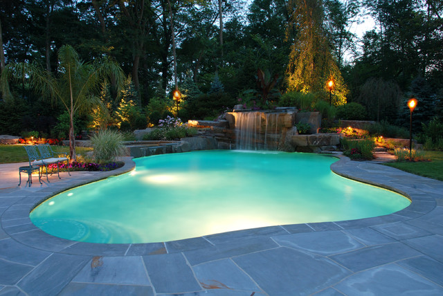 Allendale NJ Swimming Pool And Landscape Design Lighting Extraordinary Swimming Pool Lighting Design