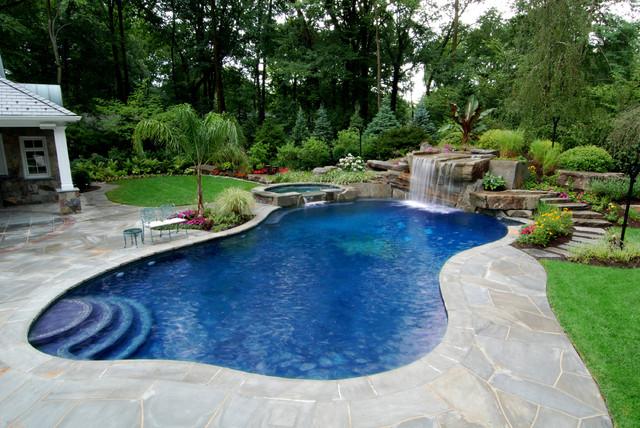 Allendale Nj Tropical Inground Swimming Pool Landscape