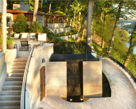Hillside pool design ideas pictures remodel and decor for Cost of building on a steep slope