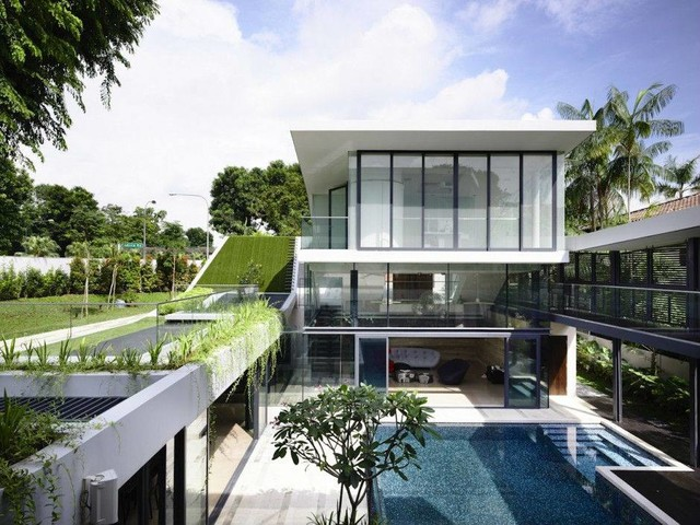 Andrew Road 3 Storey Bungalow Contemporary Pool Singapore By